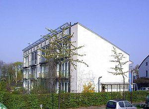 Pirmasis 1990 m. pastatytas pasyvus namas Darmstadte (Vokietija).