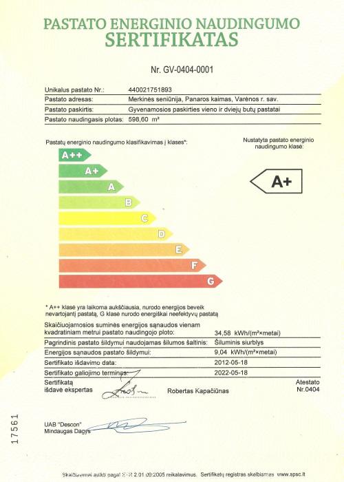 Pilni namai energinis sertifikatas