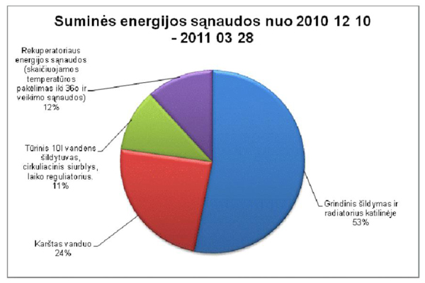 Suminės energijos sąnaudos