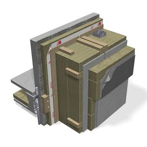 Sienos konsgtrukcijos detalė