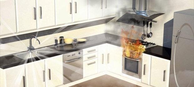 Automist maišytuvas gaisro atveju suveikia kaip priešgaisrinis purkštuvas.