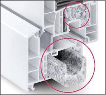 Taip atrodo termomoduliai lango profilyje