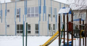 Pastatytas pirmasis skydinis vaikų darželis